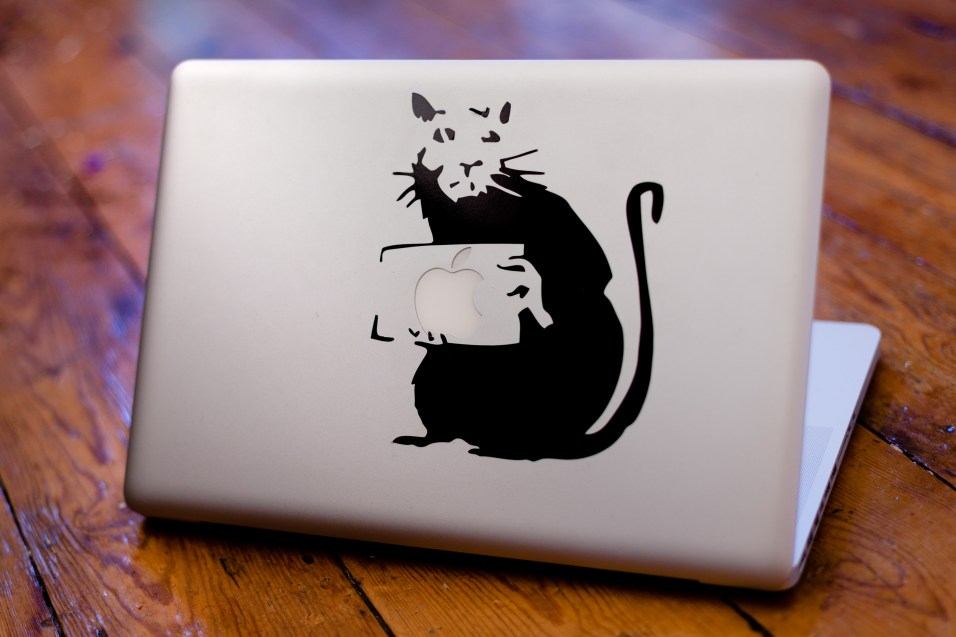 Banksy rat decal