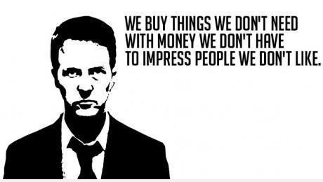 We buy things we dont need