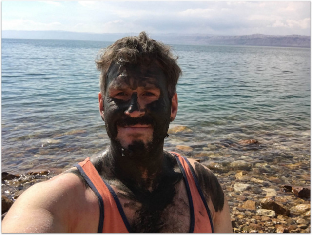 Mike Cernovich Dead Sea Mud Jordan