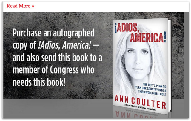 Ann Coulter book marketing.30 AM