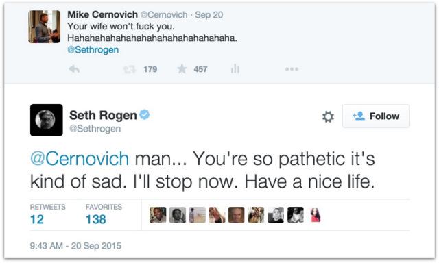 Mike Cernovich Seth Rogen Twitter beef.48 AM