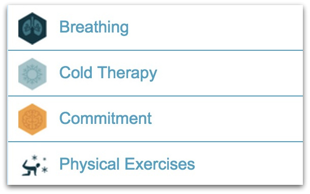 Pillars of Wim Hof breathing video course method.27 AM