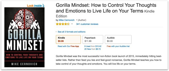 Gorilla Mindset amazon reviews.44 AM