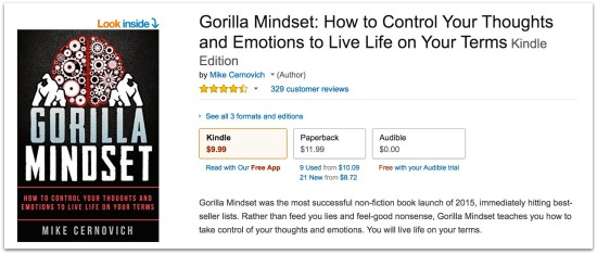 Mike Cernovich Gorilla Mindset book reviews.20 AM