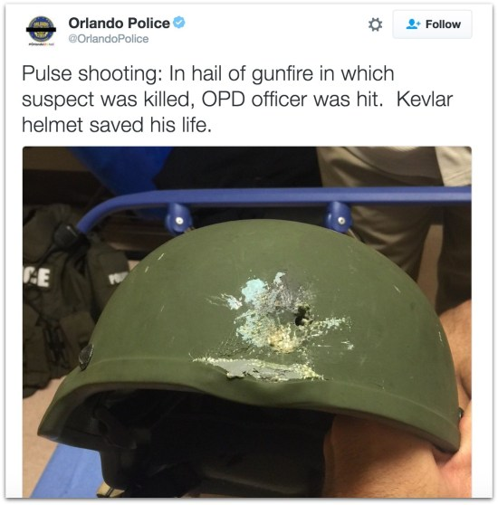 Pulse shooting police helmet.21 AM
