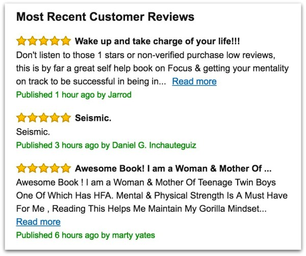 Mike Cernovich Gorilla Mindset amazon reviews.57 PM