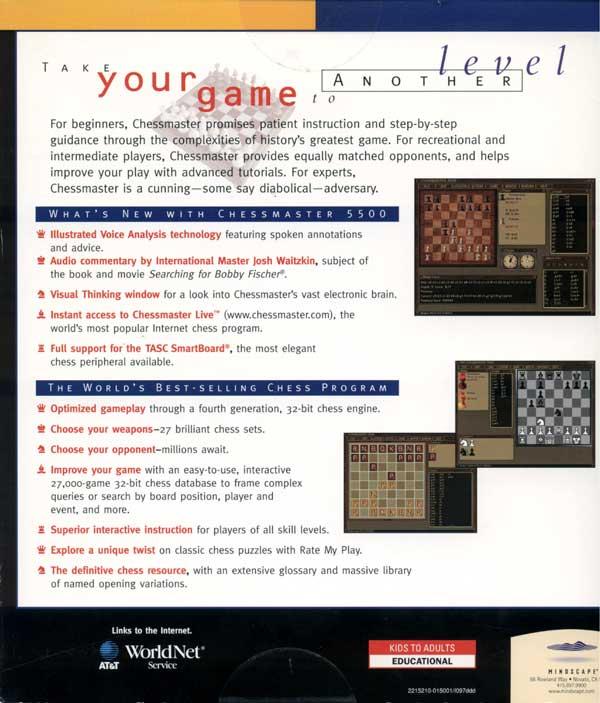 Chessmaster 5500 (Back)
