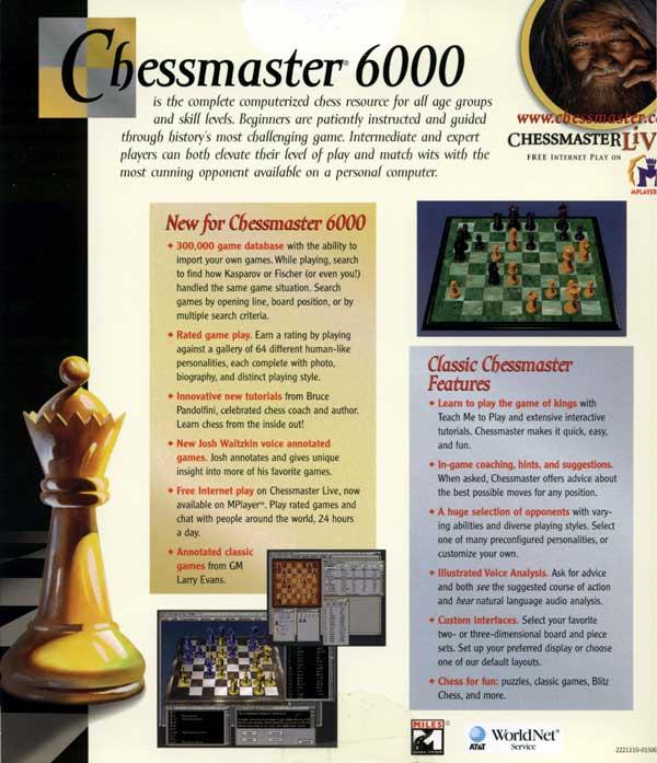Chessmaster 6000 (Back)