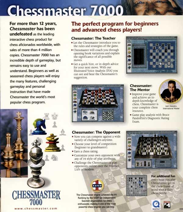Chessmaster 7000 (Back)