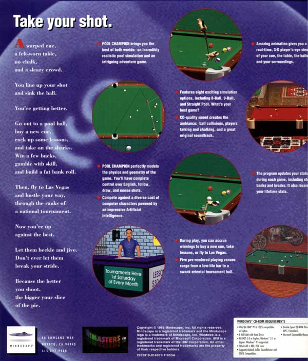 Pool Champion (Back)