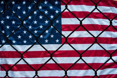 American Flag Caged