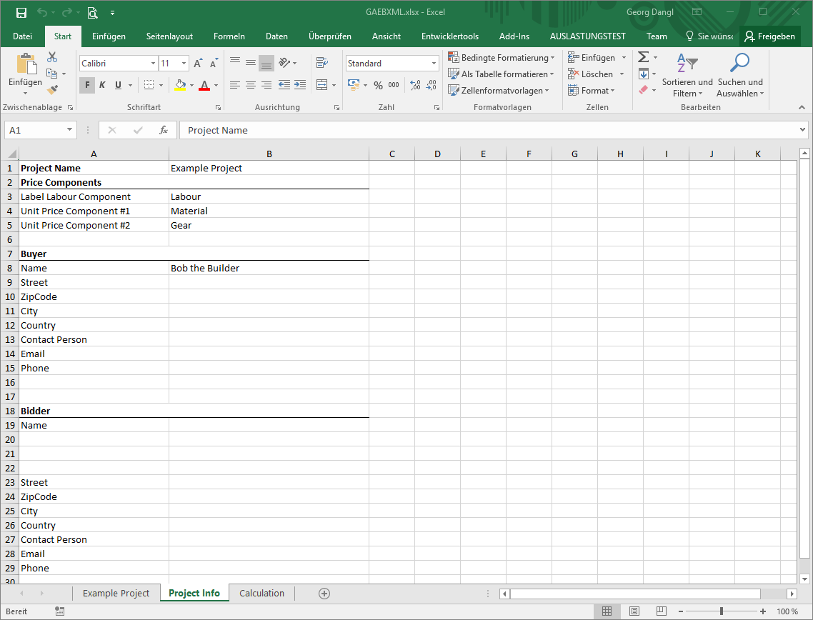 Working With Gaeb In Microsoft Excel