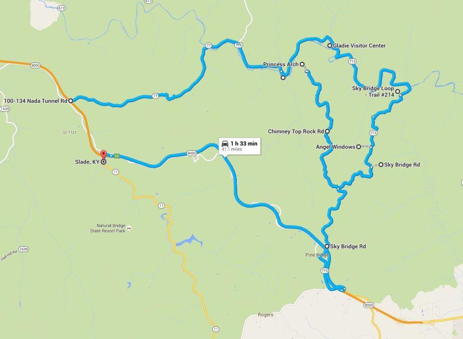 Red River Gorge Loop