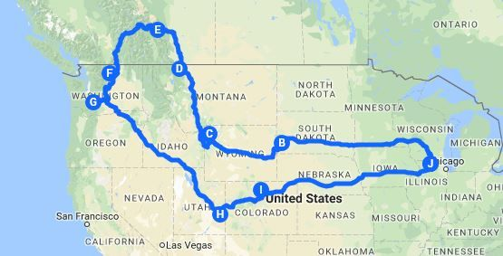 The North America Road Trip that Will Blow your Mind – Dang ... on road map of united states, road map western us, road map of argentina, road map of park city utah, road atlas of utah, road map of northern utah, new mexico and colorado, road map of california and nevada, road map of western colorado, road map of utah online, road map with mileage of utah, road map of idaho and nevada, road map southeastern united states, road map western usa, road map western united states, utah state highway map colorado, road map of northern idaho, town of dinosaur colorado, road map of new mexico and arizona, road map utah arizona,