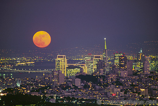 Moon over San Francisco