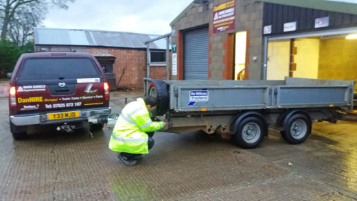 Trailer Safety check at DanHIRE TRAILERS