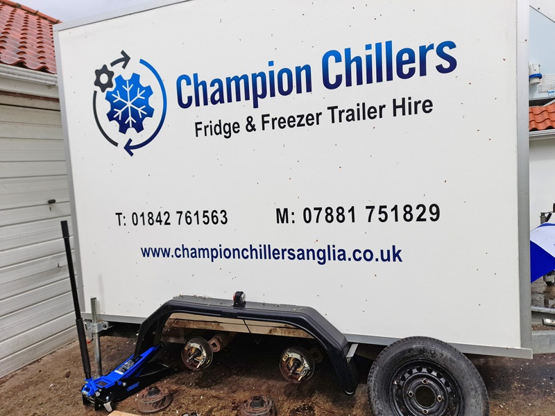 Chillers Hire servicing trailers