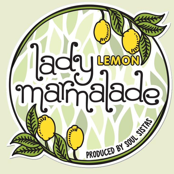 Final approved logo for Lady Lemon Marmalade.