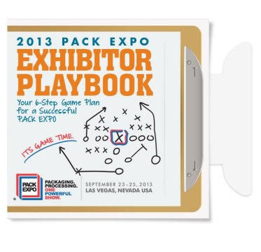 Exhibitor Playbook 2013: Cover flap open.