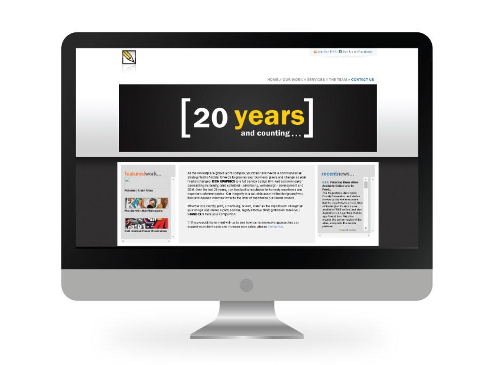 Icon Graphics' 2009 Site Design