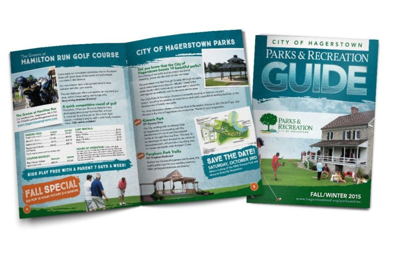 Parks & Recreation guide designed for the Hagerstown-Washington County Parks and Recreation division.