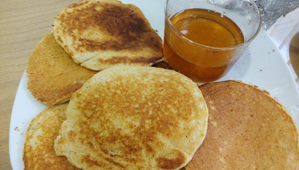 Simple Pancakes with Orange juice