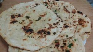 Awesome, Soft, Easy Tandoori Naan Recipe on stovetop