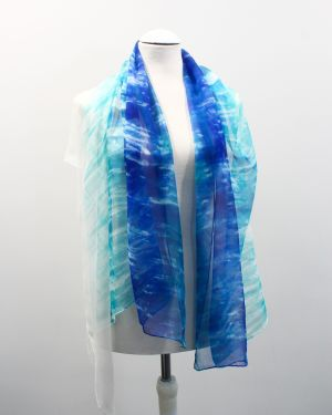 Pañuelo se seda azul