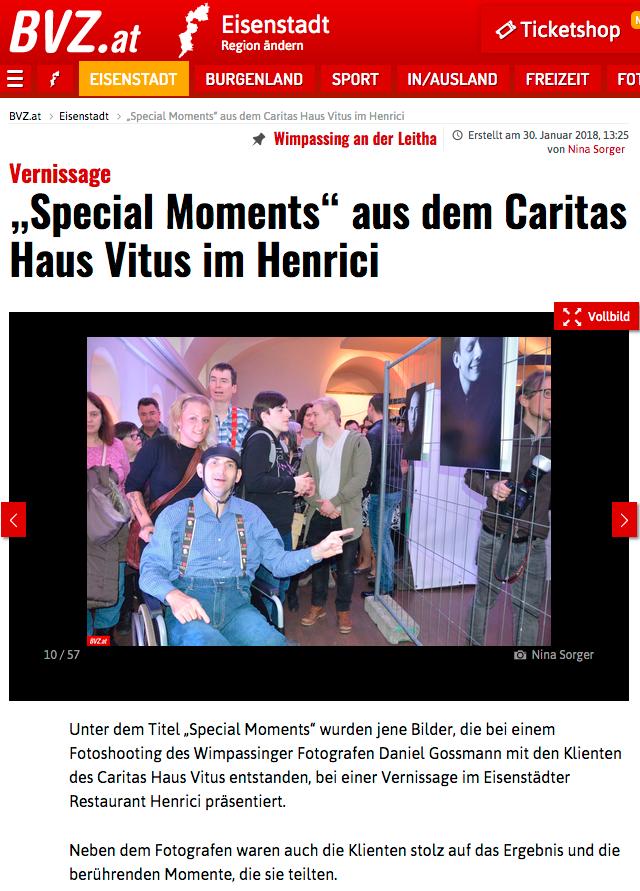 Daniel Gossmann BVZ Presse Zeitung Caritas Burgenland