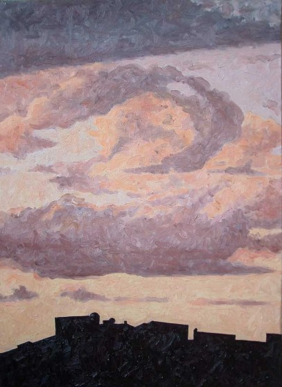 Contre-jour XI (The Only Constant is Change) - oil on linen, 82x60 cm, 2010