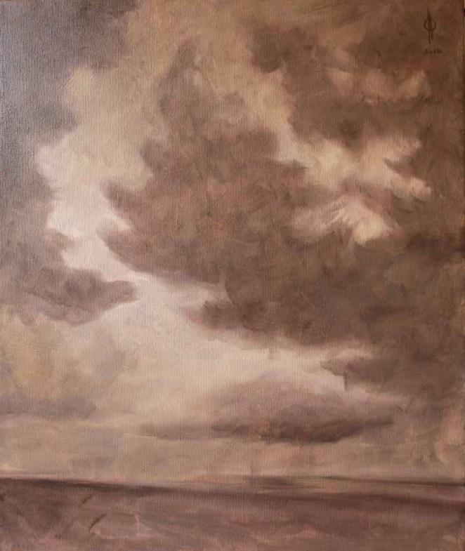 Ter Streep- East End VI, oil on canvas, 50x60cm, 2014