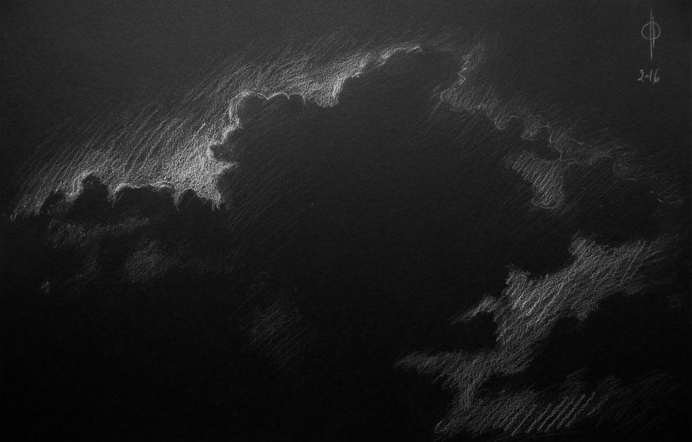 Sky 60 - pencil on paper, 32.5x50cm, 2016