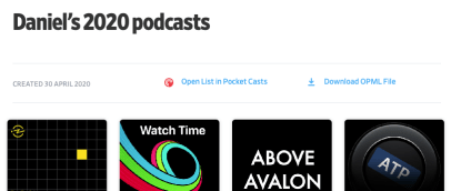 2020 Podcasts