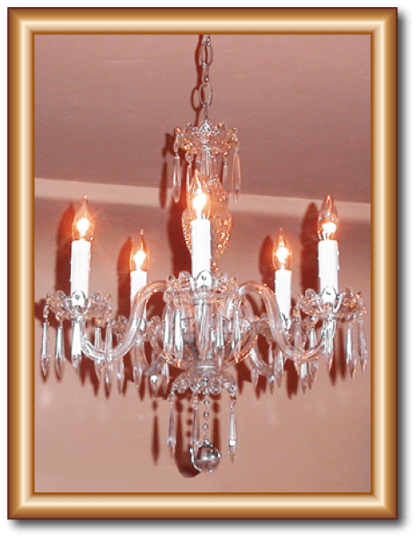 5 Light Antique Icicle Drops Crystal Chandelier Restoration This Was From The Early 1900 S I Replaced Hurricane Glass