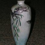 Meiji Period Ginbari Foil Vase 7in