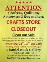 Massive Crafts and Fabric Estate Sale