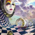 surreal-oil_painting-famous_artists-facade-masquerade-gold