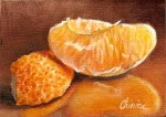 New fruits on the ACEO desk ! It's time for some oranges – fine art realism still life