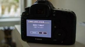 Aggiornamento firmware Canon Eos 5D Mark III