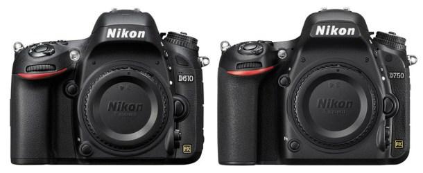 Confronto Nikon D750 vs Nikon D610