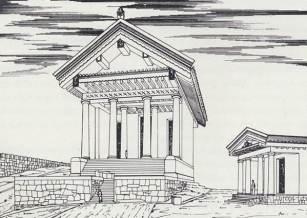 Ricostruzione dell'Acropoli di Cosa