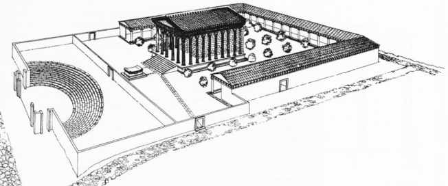 Ricostruzione del Santuario di Gabii