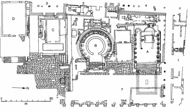 Pianta dell'area sacra di largo Argentina con i Templi A e C, più antichi