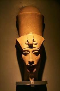 """La """"testa"""" di Akhenaton nell'attuale esposizione - Foto Daniele Mancini"""