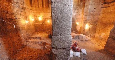 La cisterna romana di VI secolo. Foto AA