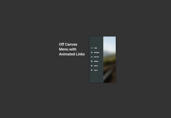 Off Canvas Menu with Animated Links