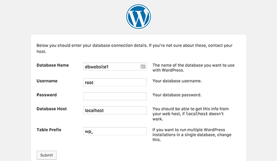 Connect your WordPress database
