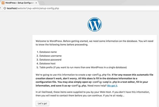 WordPress pre-setup