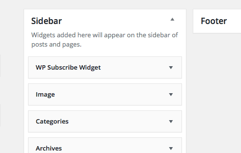 Several features are typical for the WordPress sidebar.