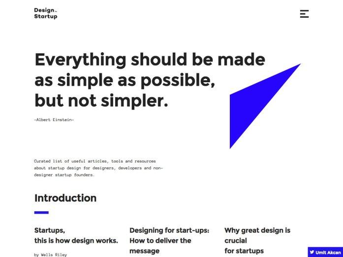 design for startup
